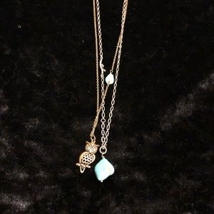 Jewelry - Lucky Brand Owl/Turquoise Necklace Set